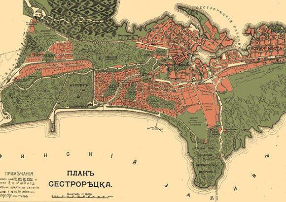 План Сестрорецка