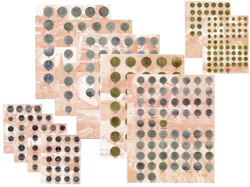 Страницы для альбома для монет старинная карта московской области