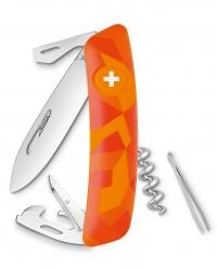 Нож перочинный SWIZA С03, люцео, оранжевый