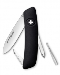 Нож перочинный SWIZA D02, черный, блистер