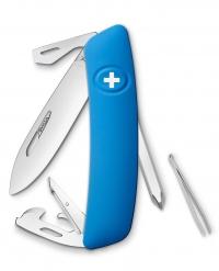 Нож перочинный SWIZA D04, синий, блистер