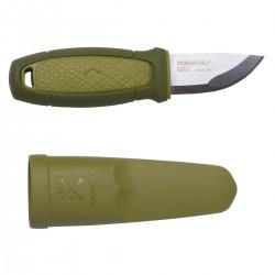 Нож Morakniv Eldris, нержавеющая сталь, цвет зеленый, с ножнами