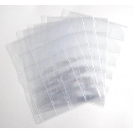 Комплект листов для монет  200х250 на 24 ячеек скользящий (5шт)