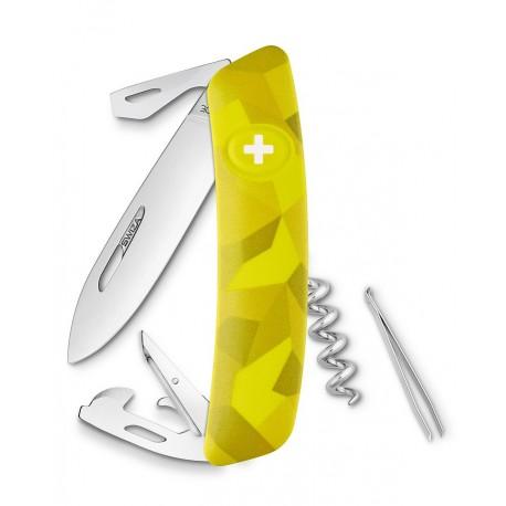 Нож перочинный SWIZA С03, велор,  желтый