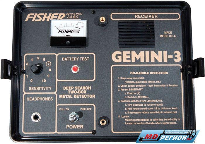 Панель управления Fisher Gemini 3